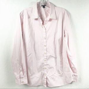 Ann Taylor Light Pink Long Sleeve Button Down Top